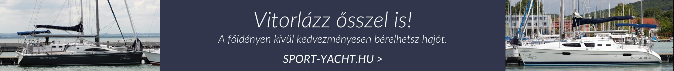 Bérelj vitorlást a sport-yacht.hu-n!
